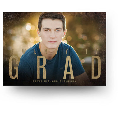 Sienna | Senior Graduation Card - 3 Dollar Photoshop Templates for Photographers