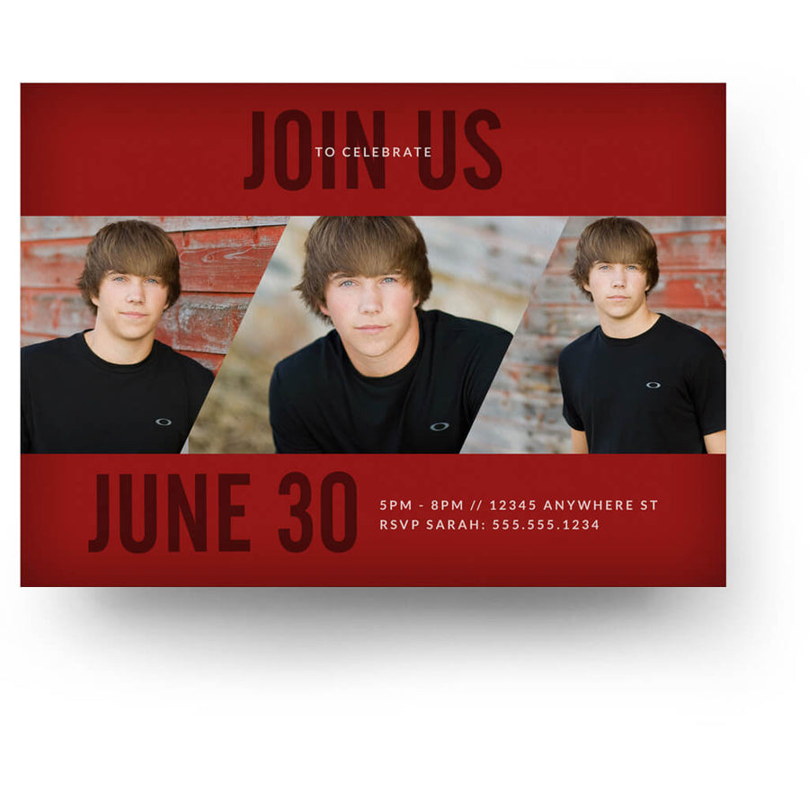 Signature | Senior Graduation Card - 3 Dollar Photoshop Templates for Photographers