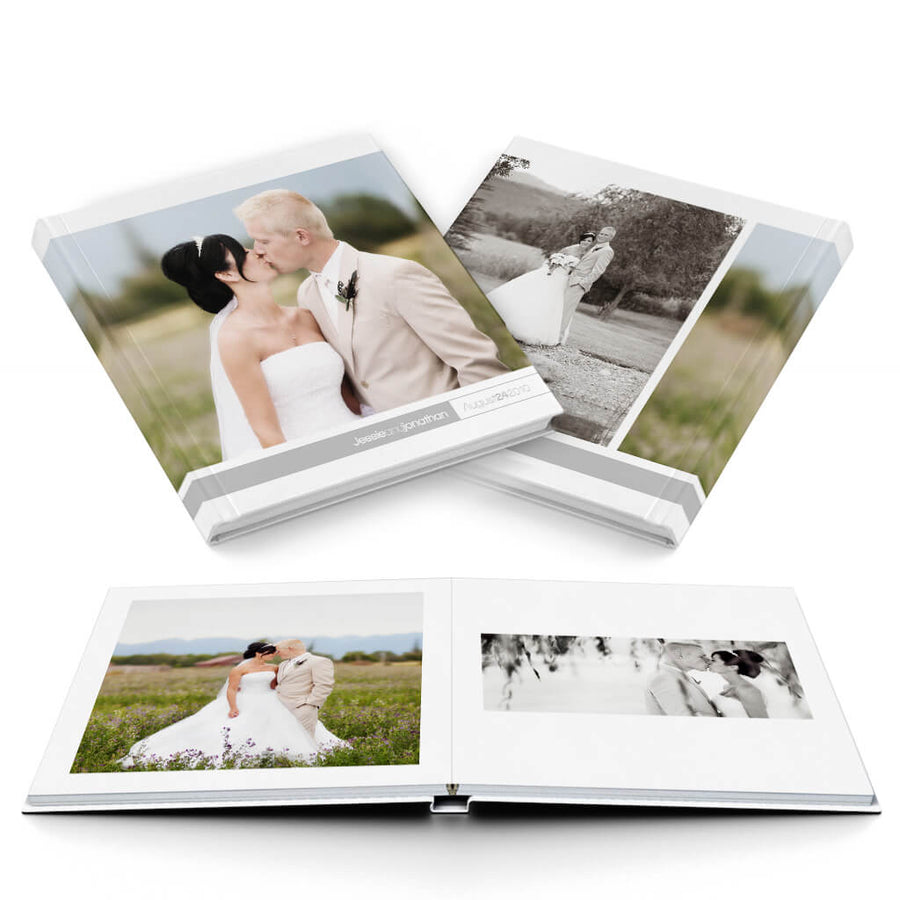 Oh So Simple Wedding Album - 3 Dollar Photoshop Templates for Photographers