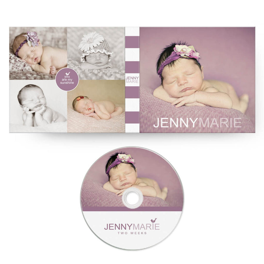 Simplicity | CD Case + Optional CD Label - 3 Dollar Photoshop Templates for Photographers
