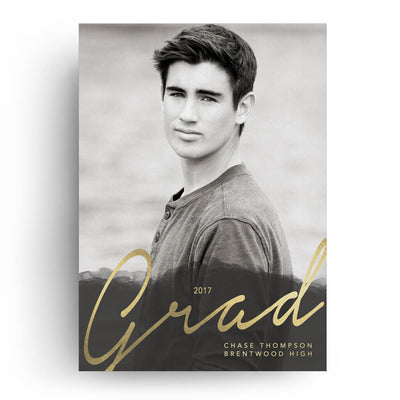 Smoke | Senior Graduation Card - 3 Dollar Photoshop Templates for Photographers