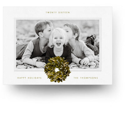 Snowy Wreath | Christmas Card - 3 Dollar Photoshop Templates for Photographers