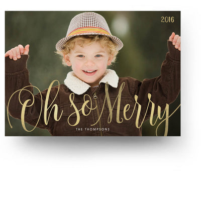 So Merry | Christmas Card - 3 Dollar Photoshop Templates for Photographers