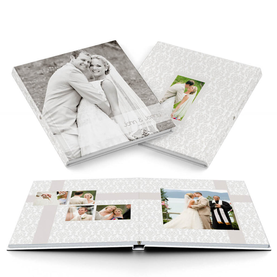 Soft & Sweet Wedding Album - 3 Dollar Photoshop Templates for Photographers