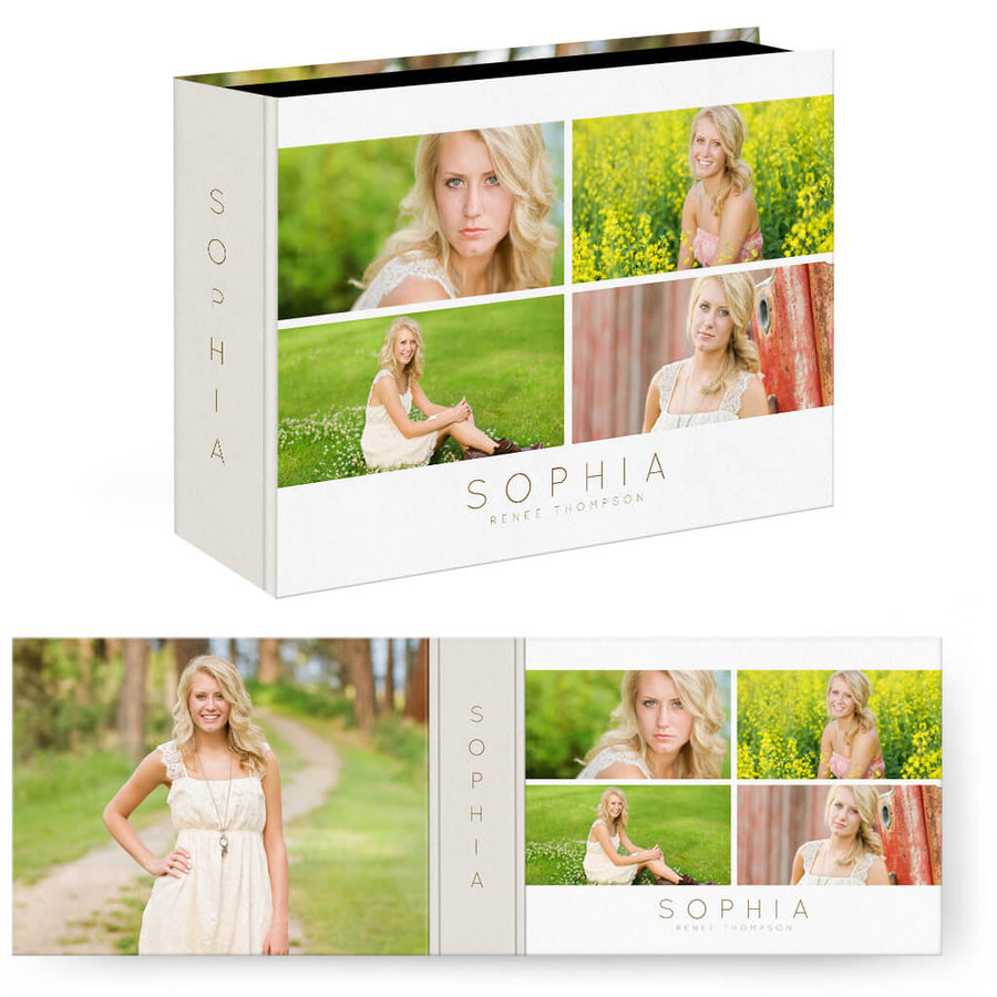 Sophia | Horizontal Image Box - 3 Dollar Photoshop Templates for Photographers