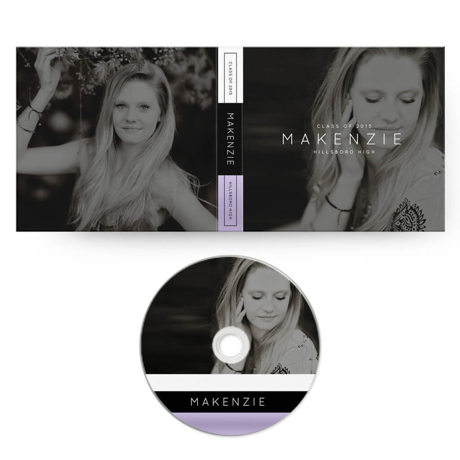 Sophisticated | CD Case + Optional CD Label - 3 Dollar Photoshop Templates for Photographers