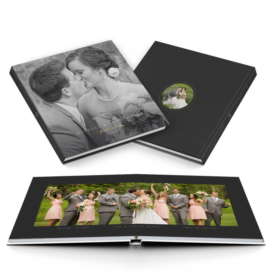 Sophisticated Wedding Album - 3 Dollar Photoshop Templates for Photographers