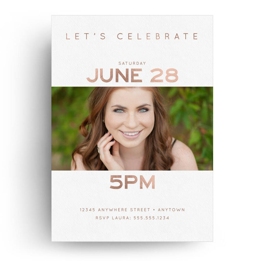 Staggered | Senior Graduation Card - 3 Dollar Photoshop Templates for Photographers