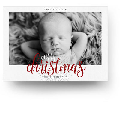 Starburst | Christmas Card - 3 Dollar Photoshop Templates for Photographers