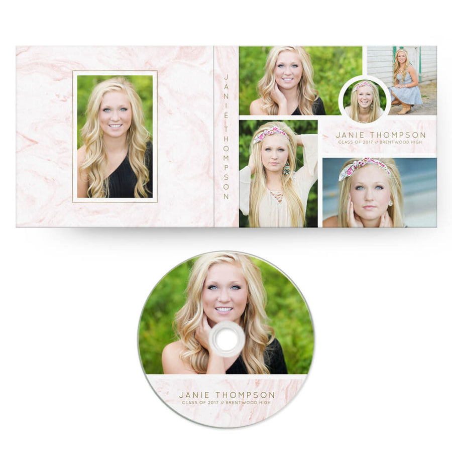 Stone | CD Case + Optional CD Label - 3 Dollar Photoshop Templates for Photographers