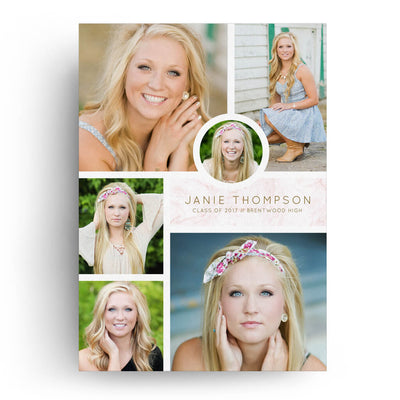 Stone | Senior Graduation Card - 3 Dollar Photoshop Templates for Photographers