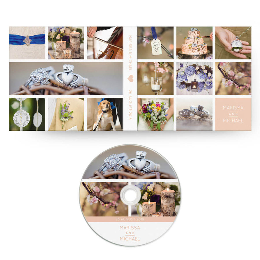 Storyboard | CD Case + Optional CD Label - 3 Dollar Photoshop Templates for Photographers
