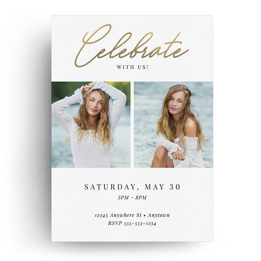 Striking | Senior Graduation Card - 3 Dollar Photoshop Templates for Photographers