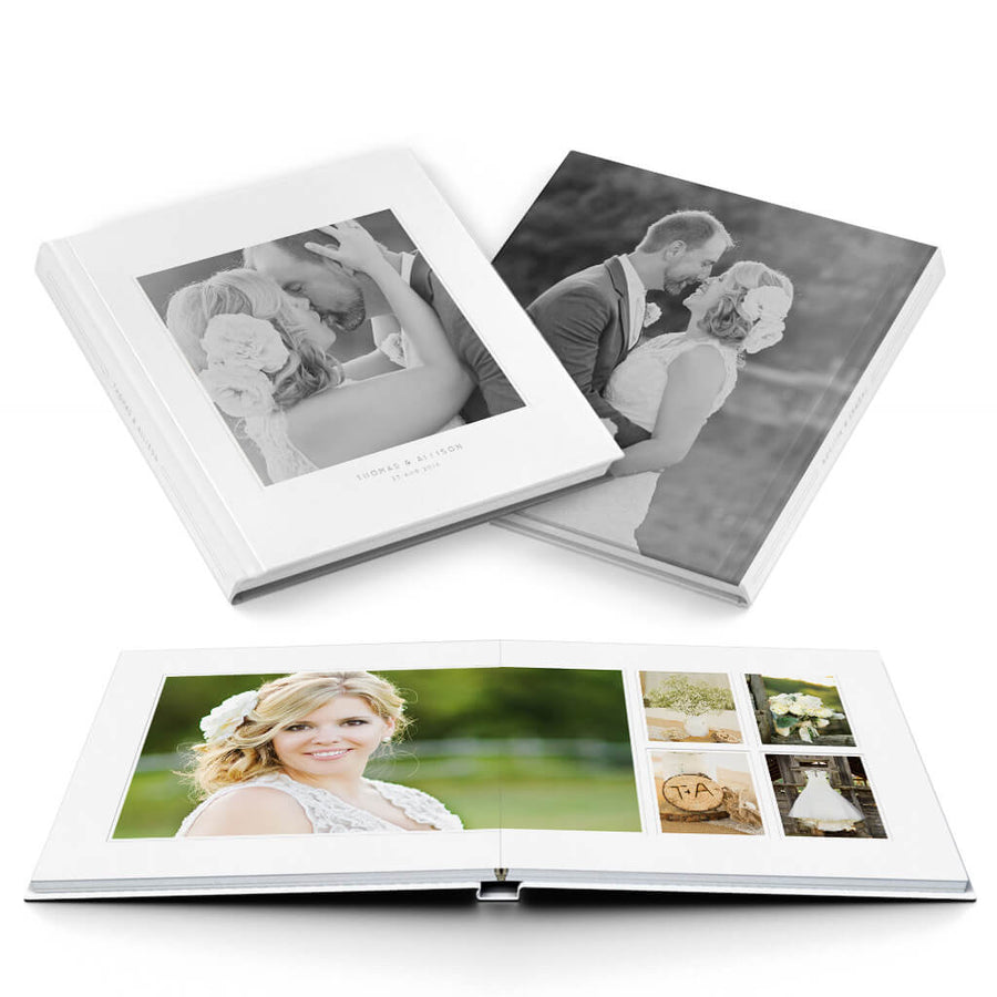 Stunningly Simple Wedding Album - 3 Dollar Photoshop Templates for Photographers