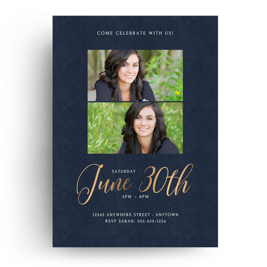 Swanky | Senior Graduation Card - 3 Dollar Photoshop Templates for Photographers