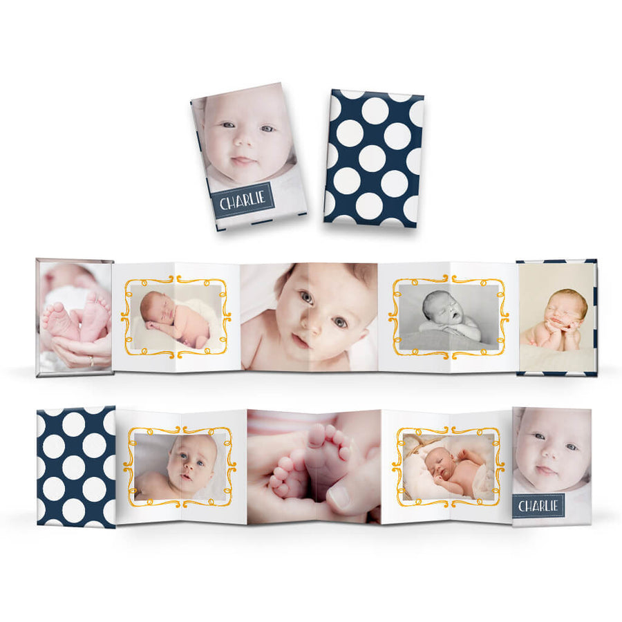 Sweet Pea | Wallet Accordion Mini Book - 3 Dollar Photoshop Templates for Photographers