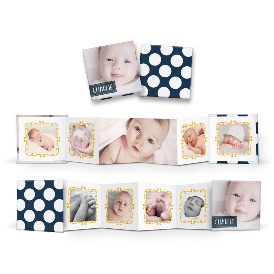 Sweet Pea | Square Accordion Mini Book - 3 Dollar Photoshop Templates for Photographers