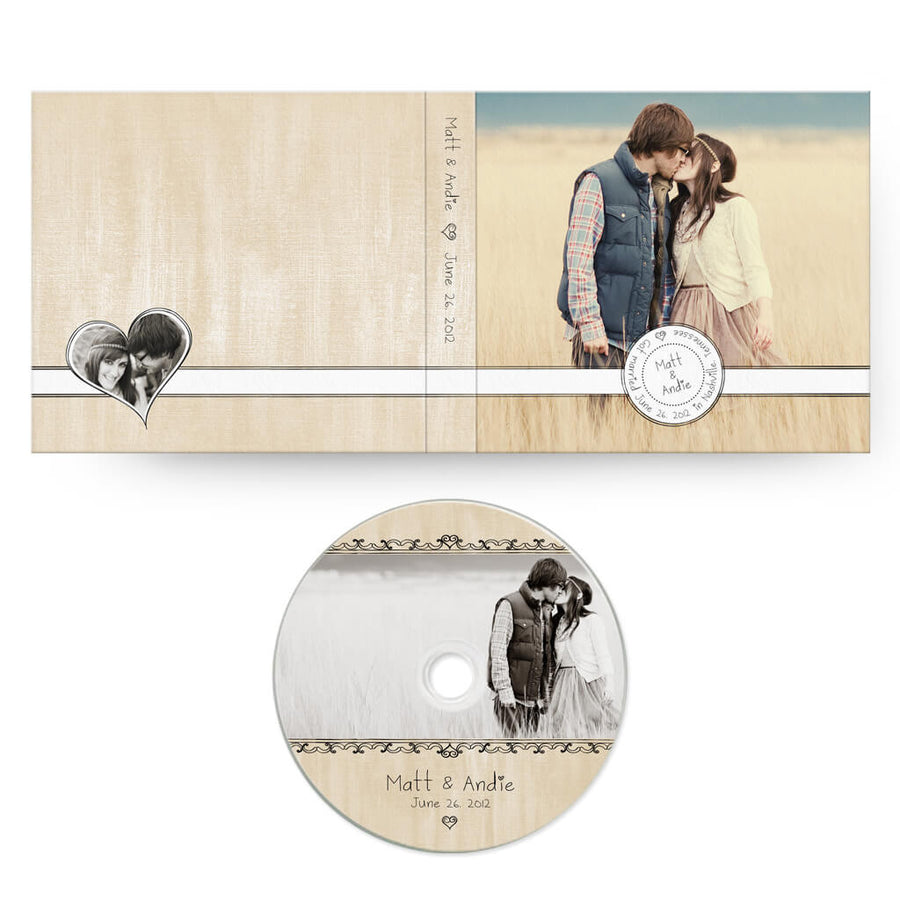 Sweethearts | CD Case + Optional CD Label - 3 Dollar Photoshop Templates for Photographers