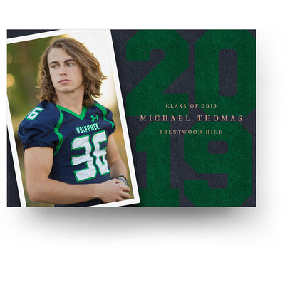 The Athlete | Senior Graduation Card - 3 Dollar Photoshop Templates for Photographers