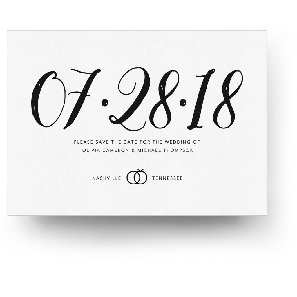 The big date save the date card 3 dollar templates the big date save the date card maxwellsz