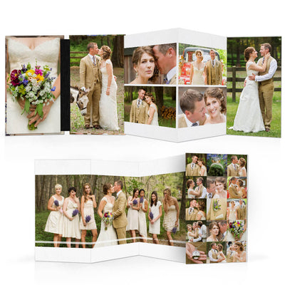 The Wedding | 4x8 Accordion Book - 3 Dollar Photoshop Templates for Photographers