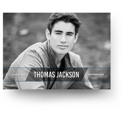 Thomas | Senior Graduation Card - 3 Dollar Photoshop Templates for Photographers