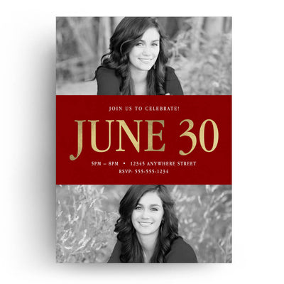 Timeless | Senior Graduation Card - 3 Dollar Photoshop Templates for Photographers