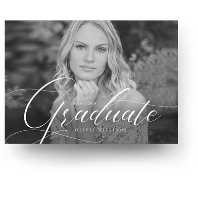 Traditional | Senior Graduation Card - 3 Dollar Photoshop Templates for Photographers