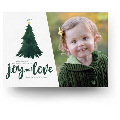Tree Joy | Christmas Card - 3 Dollar Photoshop Templates for Photographers