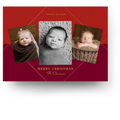 Trio | Christmas Card - 3 Dollar Photoshop Templates for Photographers