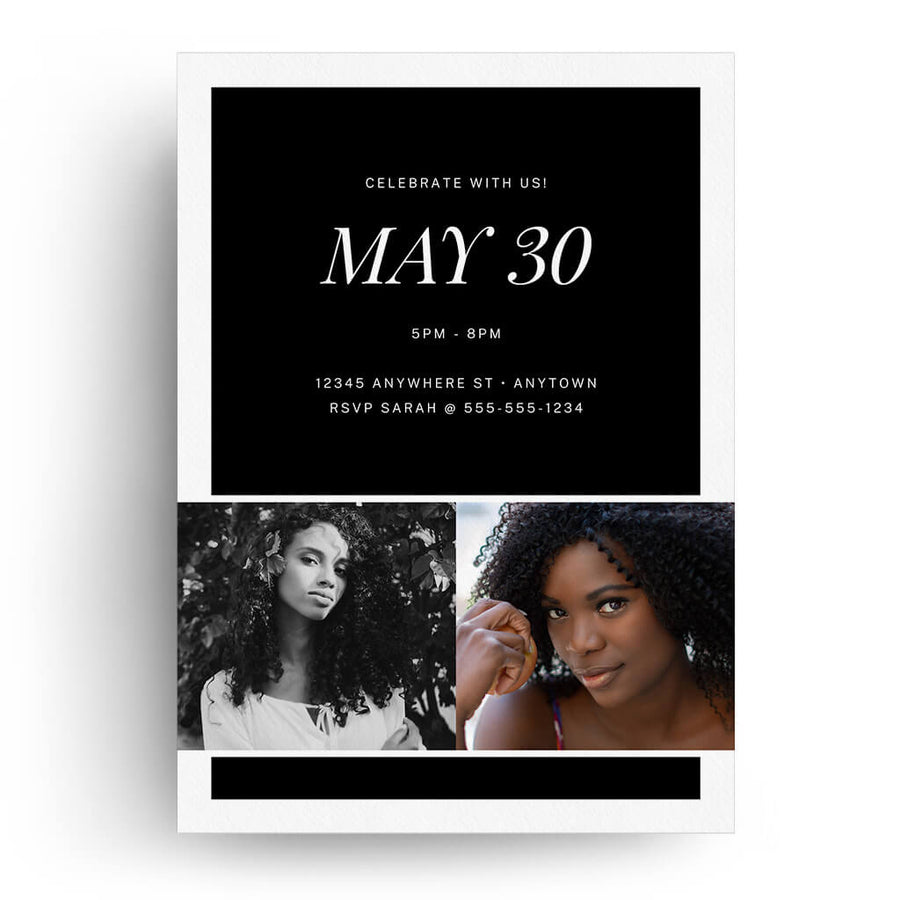 Twenty Twenty | Senior Graduation Card - 3 Dollar Photoshop Templates for Photographers