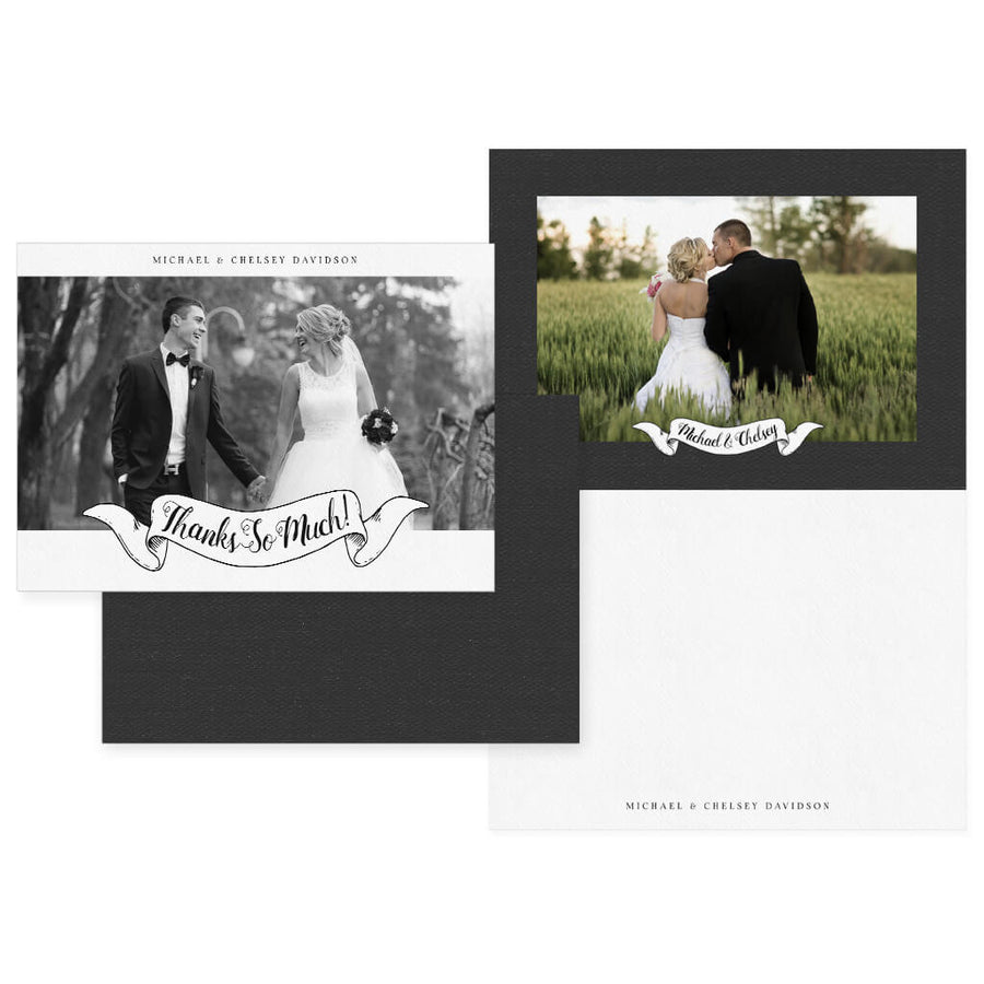 Two Become One | 5x7 Folding Thank You Card - 3 Dollar Photoshop Templates for Photographers
