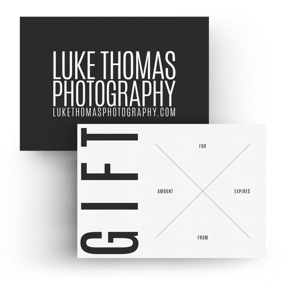 Type | 5x7 Gift Certificate - 3 Dollar Photoshop Templates for Photographers