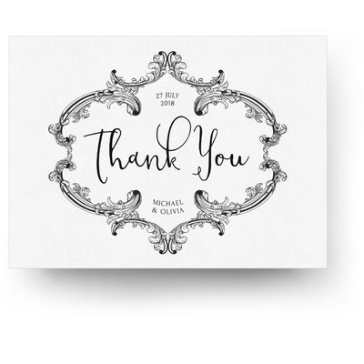 Vintage | 5x7 Folding Thank You Card - 3 Dollar Photoshop Templates for Photographers