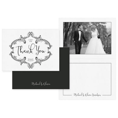 The Black & White Collection | (8) 5x7 Folding Thank You Cards - 3 Dollar Photoshop Templates for Photographers