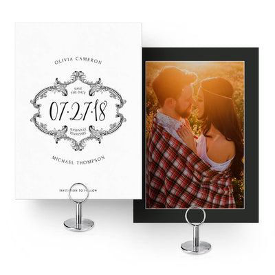 The Black & White Collection | (8) Save-the-Date Cards - 3 Dollar Photoshop Templates for Photographers