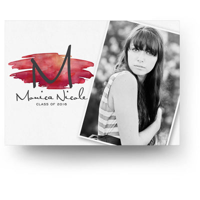 Watercolor Dots | Senior Graduation Card - 3 Dollar Photoshop Templates for Photographers