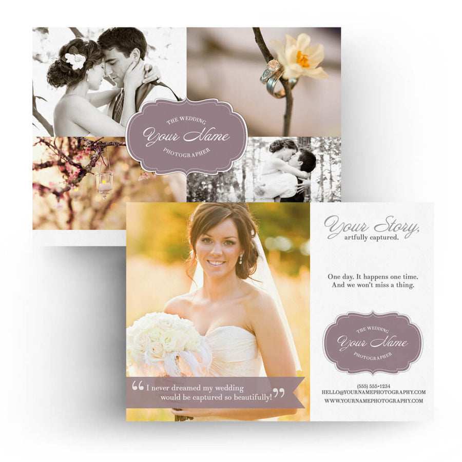 Wedding | 5x7 Marketing Postcard - 3 Dollar Photoshop Templates for Photographers
