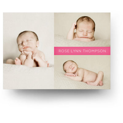 White Collection Card 1 | Birth Announcement Card - 3 Dollar Photoshop Templates for Photographers