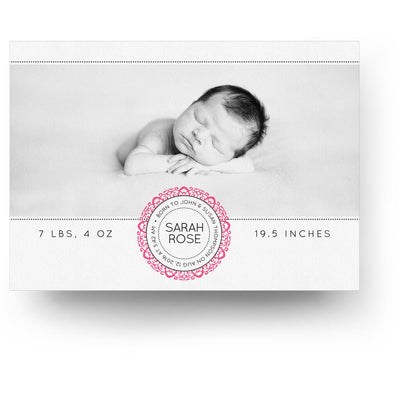 White Collection Card 2 | Birth Announcement Card - 3 Dollar Photoshop Templates for Photographers