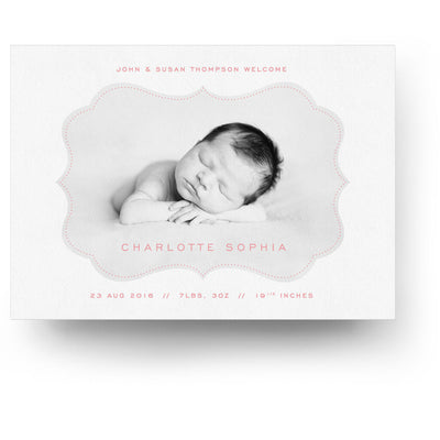 White Collection Card 7 | Birth Announcement Card - 3 Dollar Photoshop Templates for Photographers