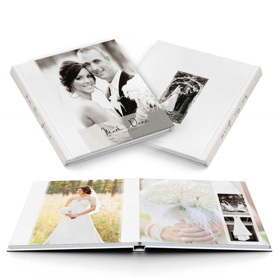 White Magazine Wedding Album - 3 Dollar Photoshop Templates for Photographers