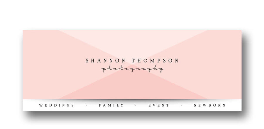 Blush | Facebook Cover - 3 Dollar Photoshop Templates for Photographers