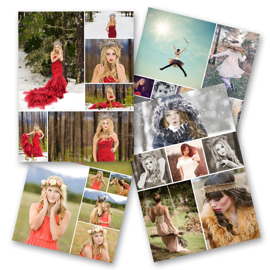 Classic | Blog Collage Frame Templates - 3 Dollar Photoshop Templates for Photographers