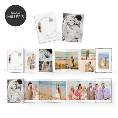 Clean Wedding | Mini Accordion Book - 3 Dollar Photoshop Templates for Photographers