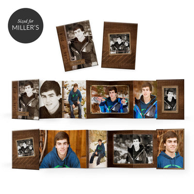 For the Guys | Mini Accordion Book - 3 Dollar Photoshop Templates for Photographers