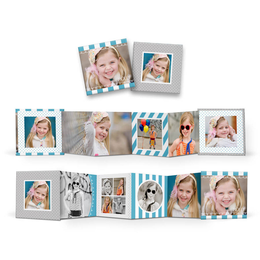 Little Sprouts | Square Accordion Mini Book - 3 Dollar Photoshop Templates for Photographers