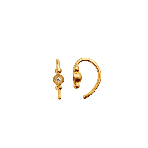 Petit Bon-Bon - White Zircon Gold Earring Piece