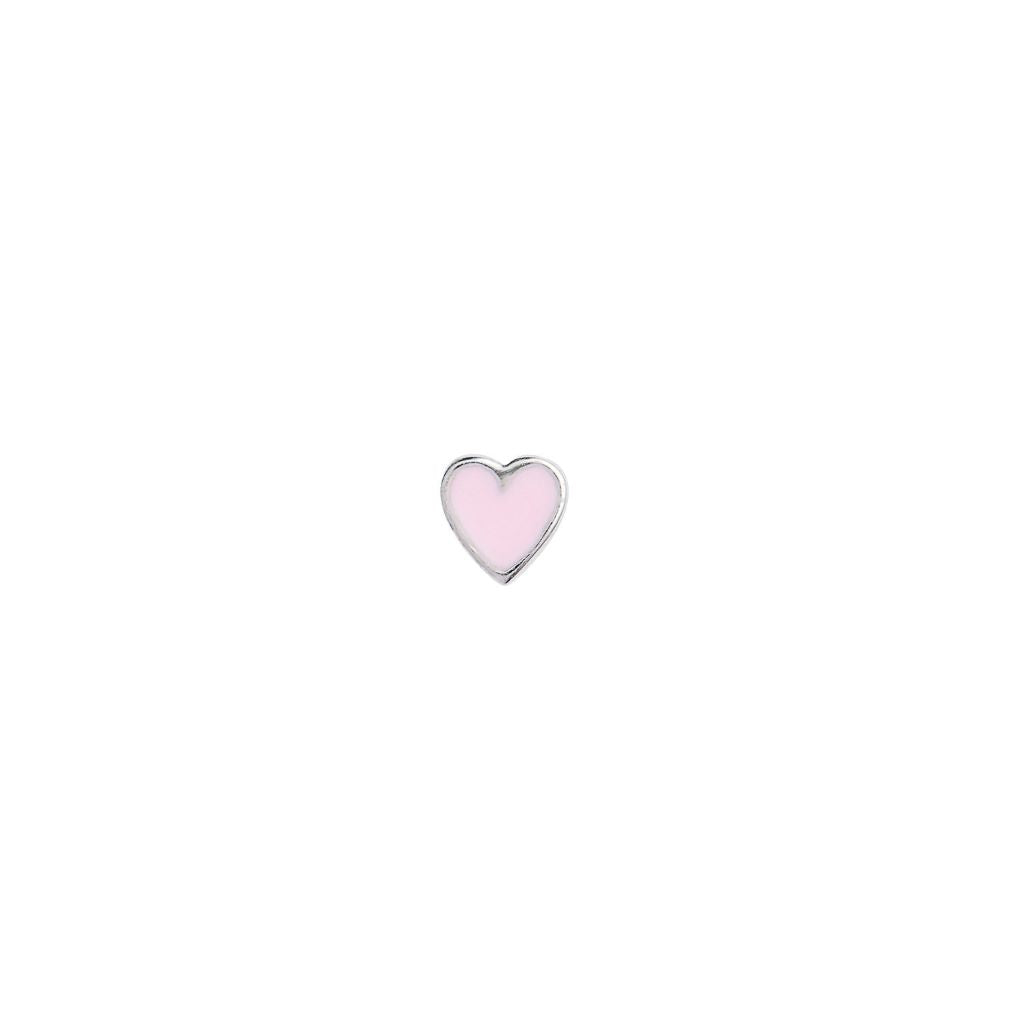 Stine A Petit Love Heart Light Pink Ørering