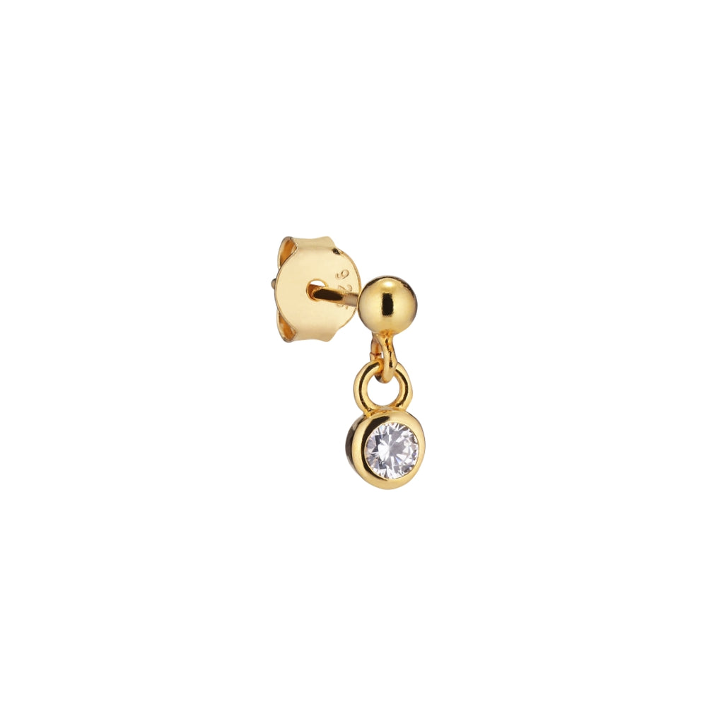 The Earring Shop Crystal Stud Forgyldt ørering